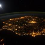 Peninsula Iberica vista desde la Estación Espacial Internacional