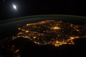 España vista desde el espacio