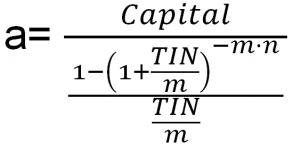 calculo cuotas de un prestamo