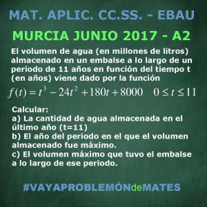 Prueba de Evaluación de Bachillerato para el Acceso a la Universidad - Matemáticas Aplicadas a las CC.SS. Junio 2017 Cuestión A2